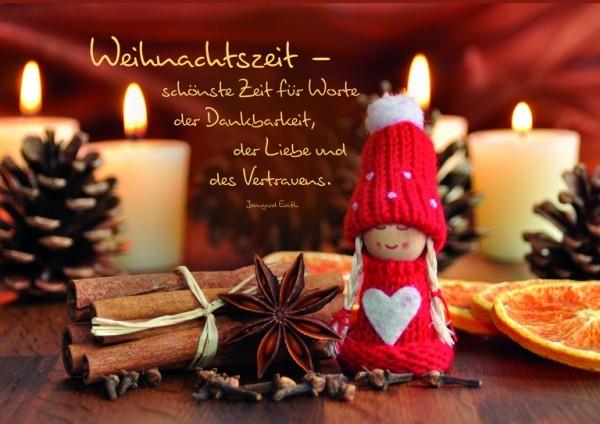 Weihnachtskarte Weihnachtszeit