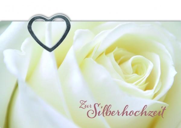 Hochzeitskarte mit Geldklammer, Zur Silber... (6 Stck)