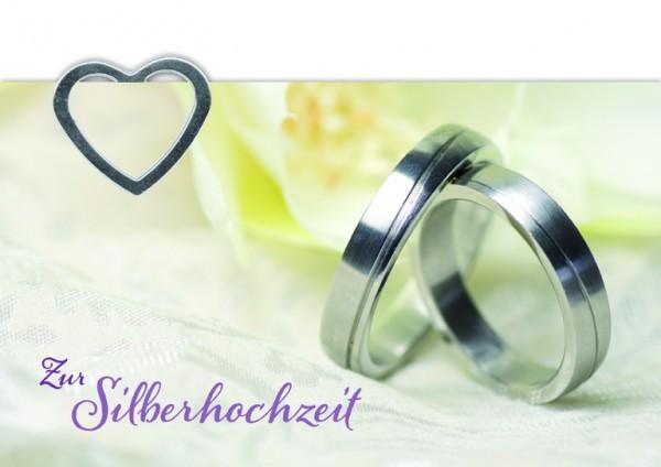 Hochzeitskarte mit Geldklammer, Zur Silberhochzeit 6 St.