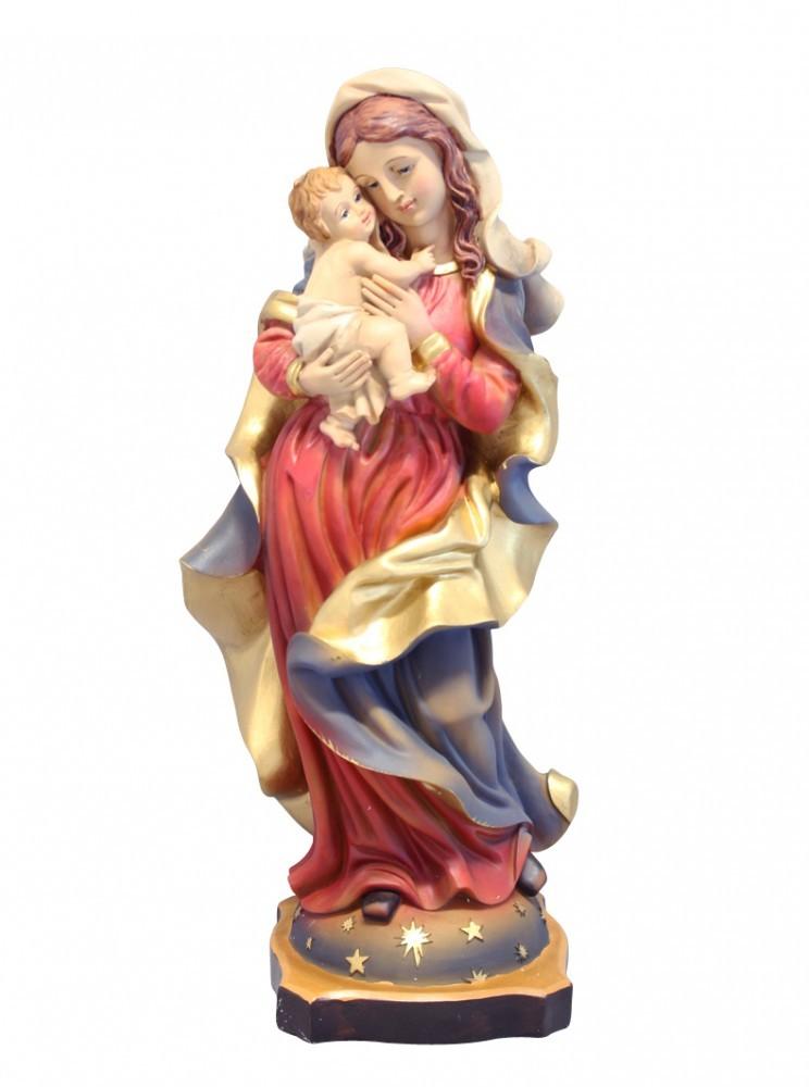 Madonna mit Kind handbemalt 31 cm Marienfigur Marienstatue
