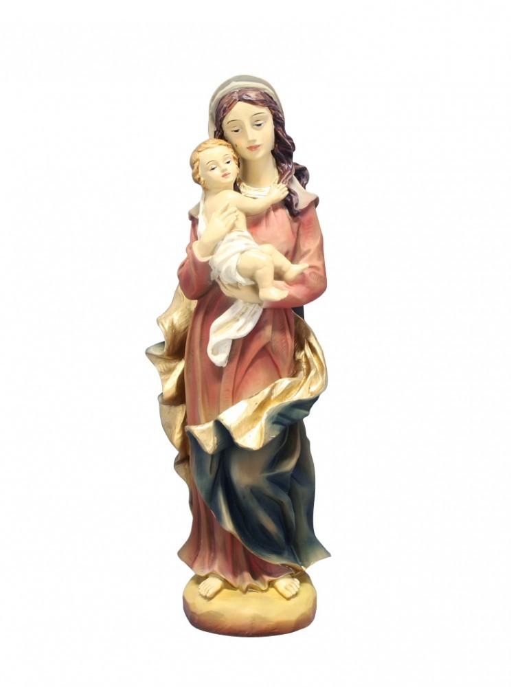 Madonna mit Kind handbemalt 30 cm Marienfigur Marienstatue