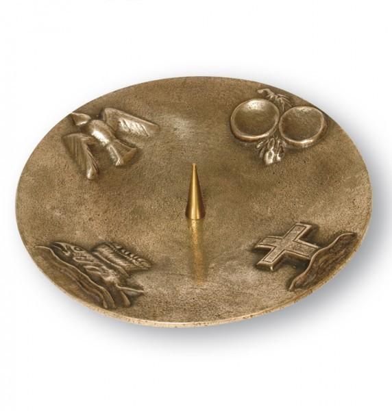 kerzenst nder 4 christliche symbole bronze 20 cm. Black Bedroom Furniture Sets. Home Design Ideas