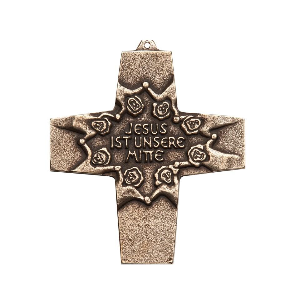Kommunion Jesus ist unsere Mitte - 10 cm Wandkreuz