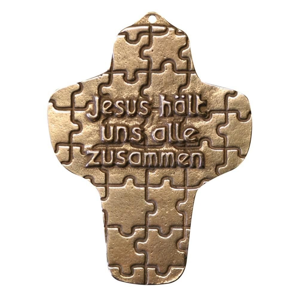 Kommunion Jesus hält uns alle zusammen 9 cm Wandkreuz
