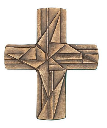 Wandkreuz 8 x 9,5 cm Bronze zur Erstkommunion