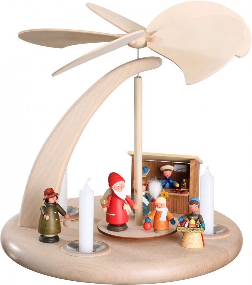weihnachtspyramide bogen weihnachtsmarkt 25 cm erzgebirge. Black Bedroom Furniture Sets. Home Design Ideas