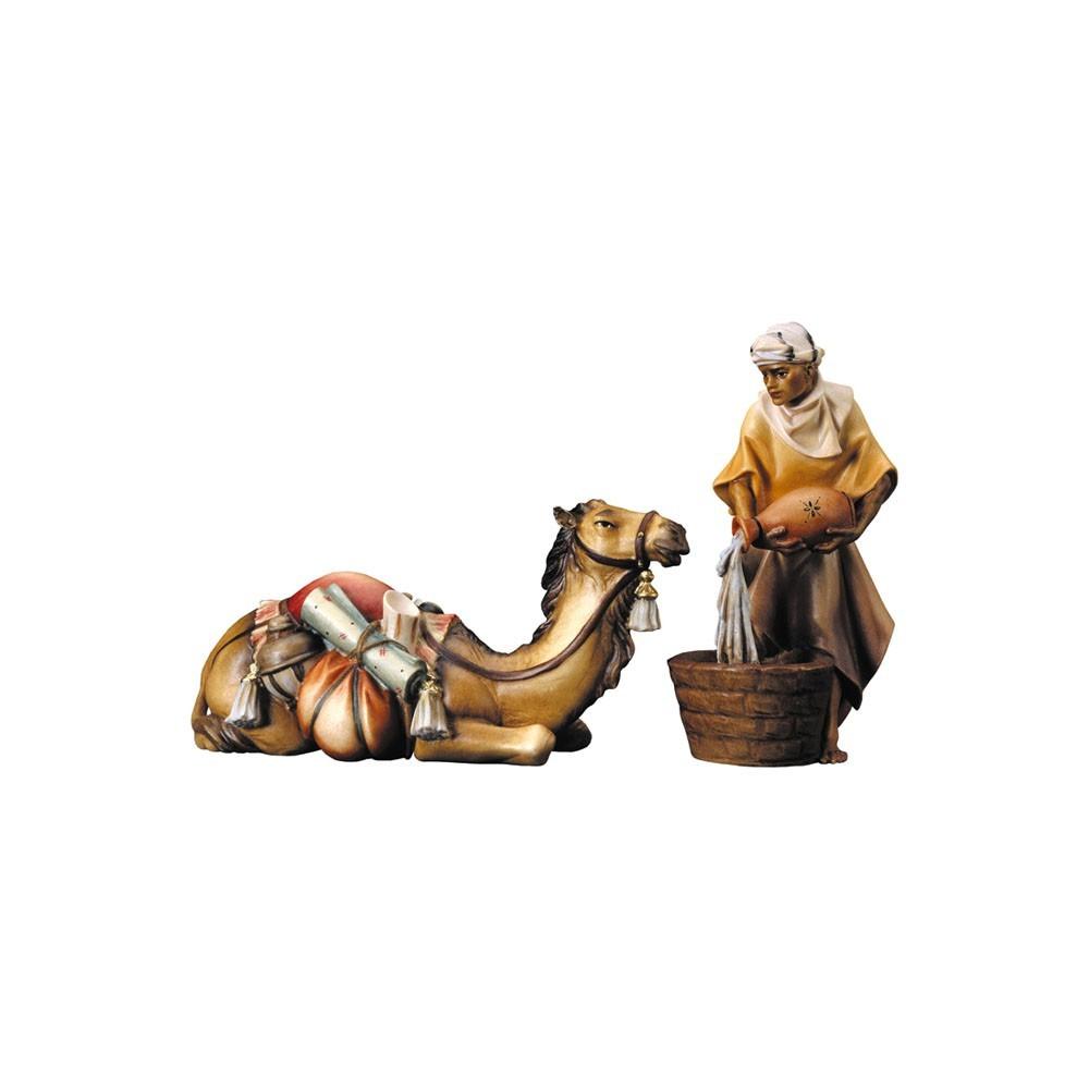 Ulrich Krippe Kamelgruppe liegend Holz, geschnitzt